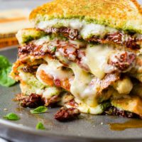 Sun Dried Tomato Bacon Pesto Grilled Cheese