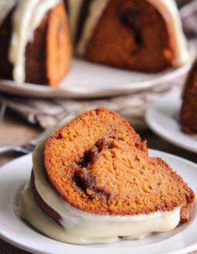 Cinnamon Ripple Sweet Potato Bundt Cake