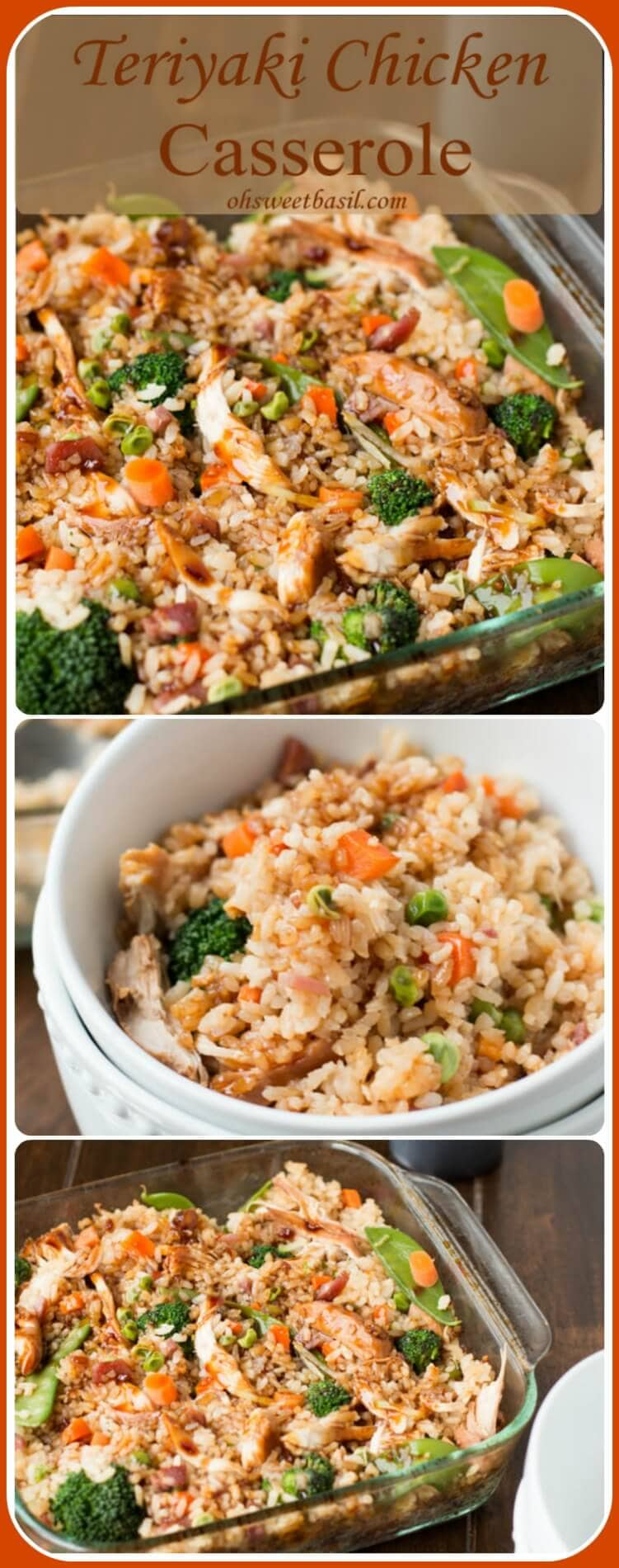 It's everything you love about takeout without leaving your house. Teriyaki chicken casserole full of fried rice, chicken and veggies for dinner! ohsweetbasil.com
