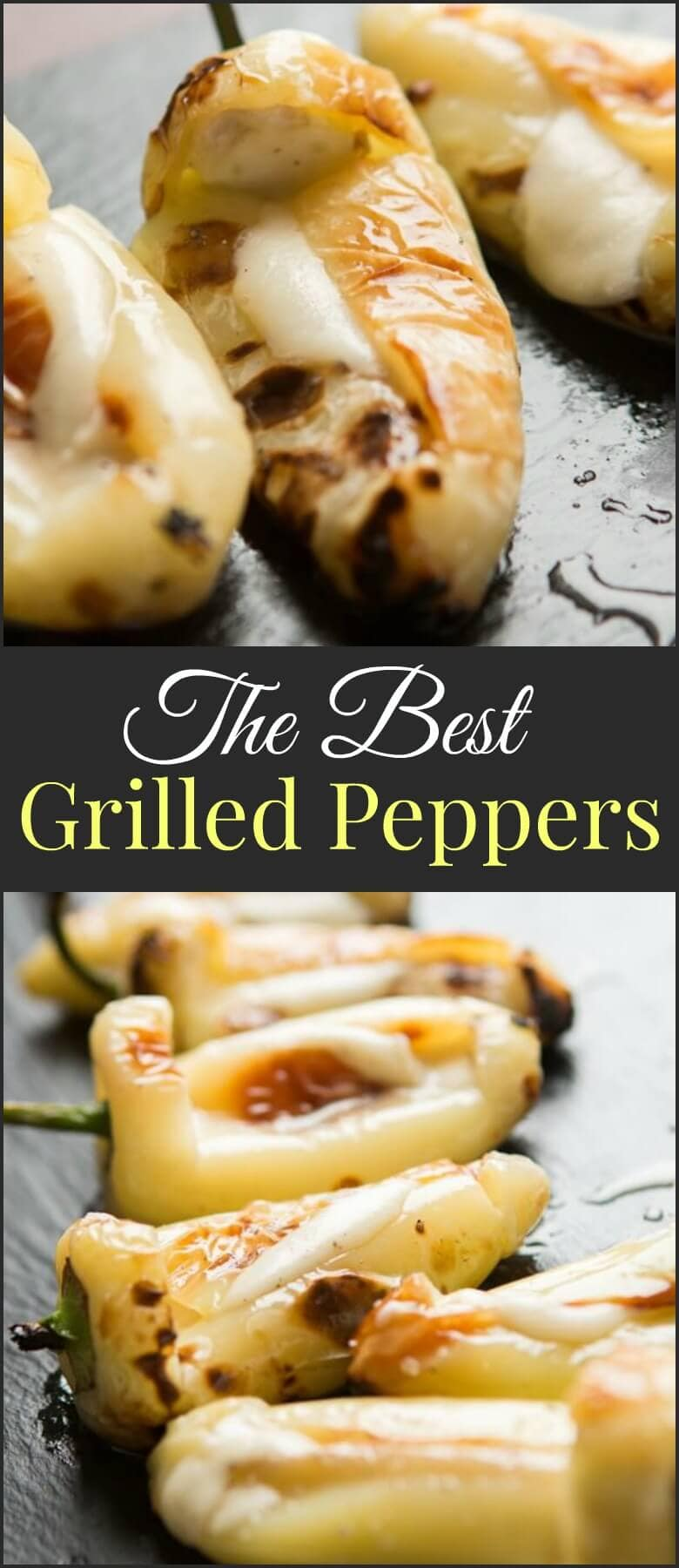The BEST spicy, cheesy grilled peppers ohsweetbasil.com