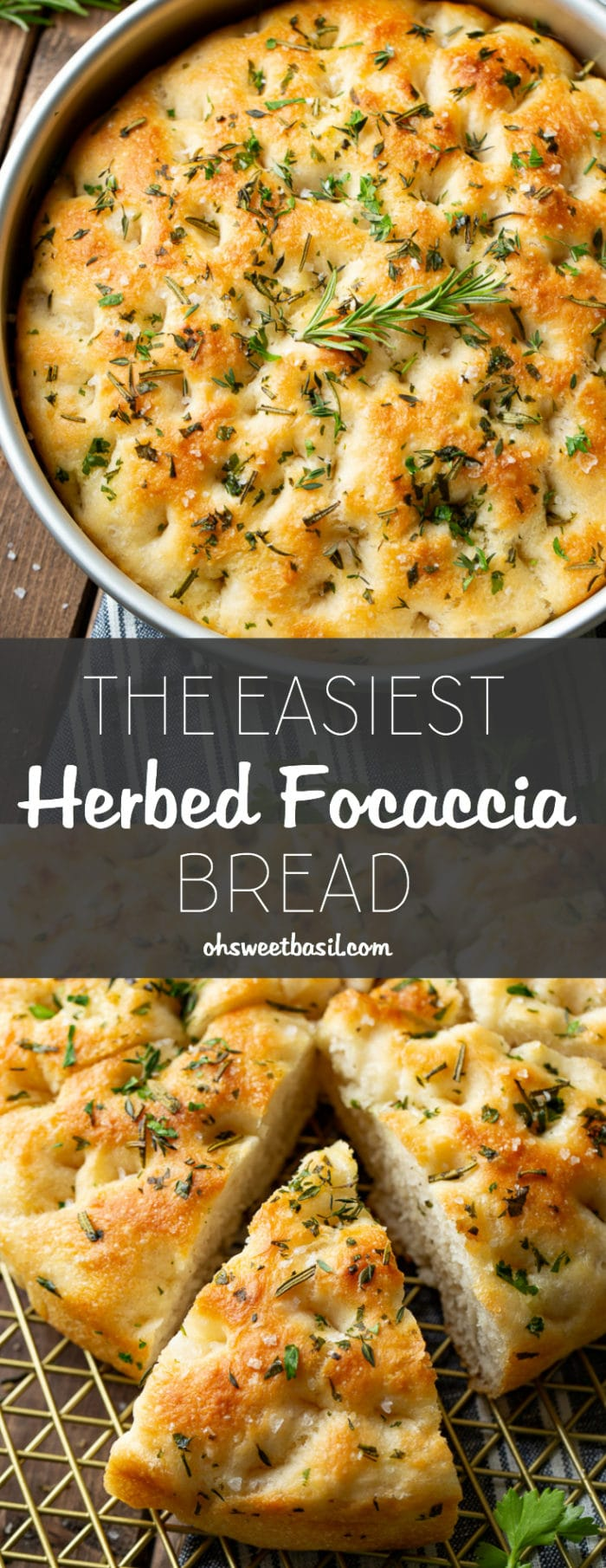 The Easiest Herbed Focaccia Bread Oh Sweet Basil