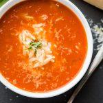 Zupas Copycat Tomato Basil Orzo Soup