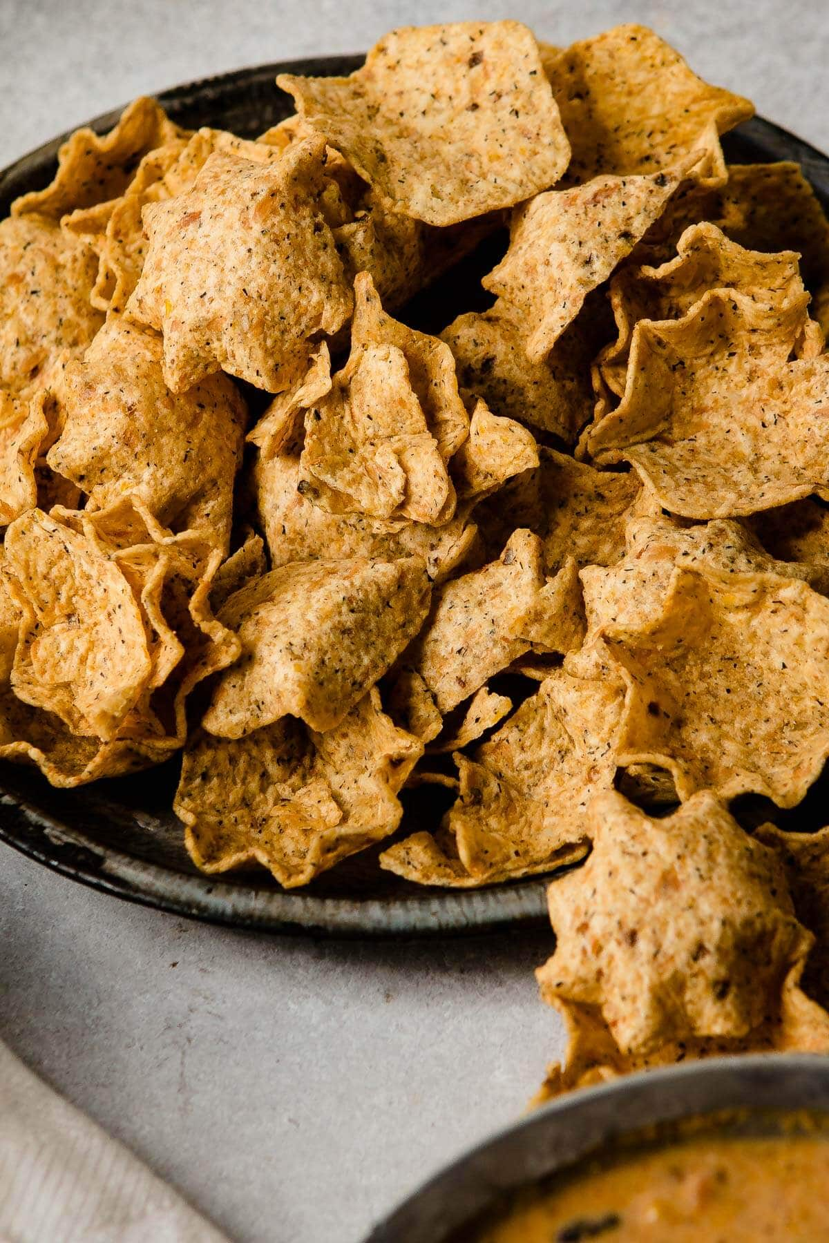 Multigrain tostitos scoops are the perfect way to enjoy soup! ohsweetbasil.com