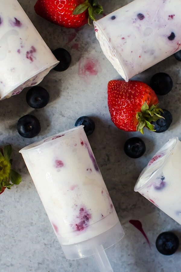 Triple Berry Ice Cream Push-Pops