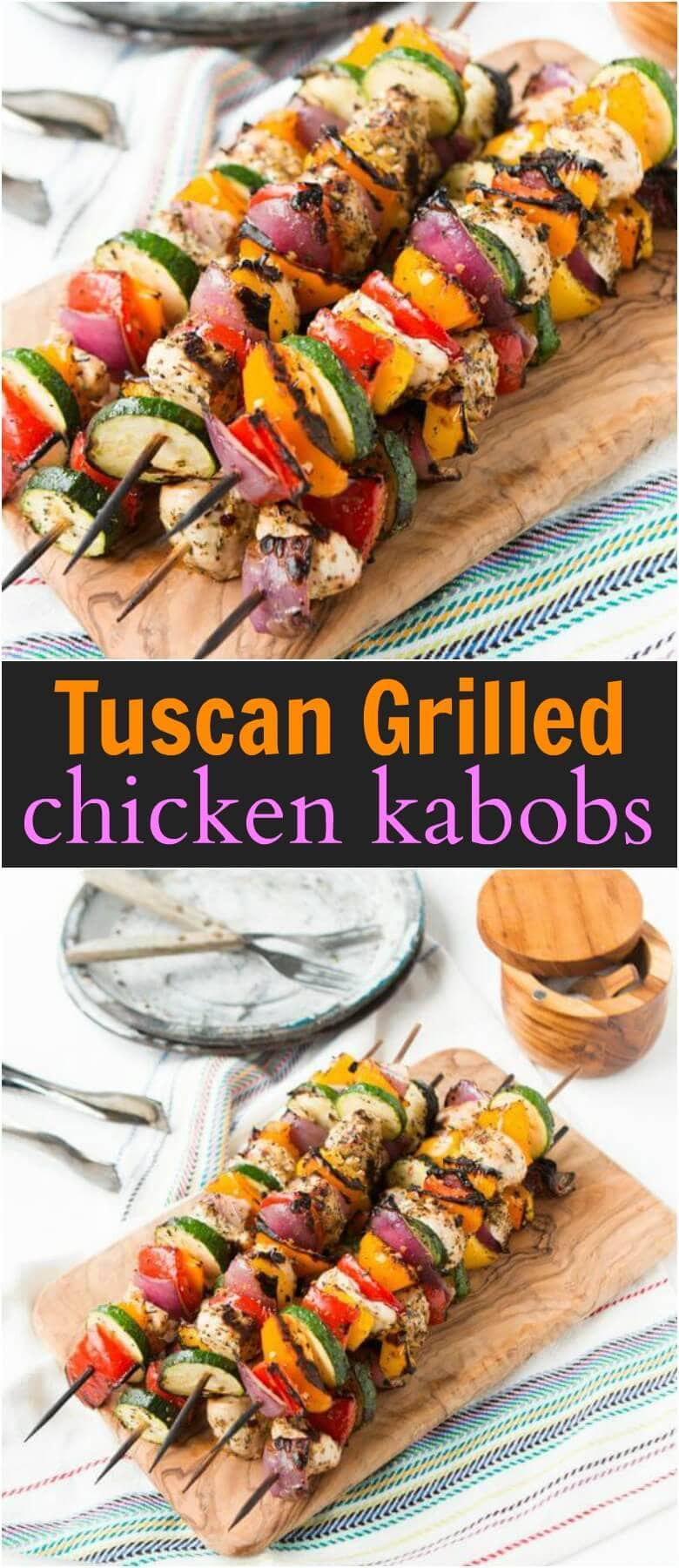 How long do i grill chicken kabobs - These Tuscan Grilled Chicken Kabobs Are So Easy And We Eat Them All Summer Long