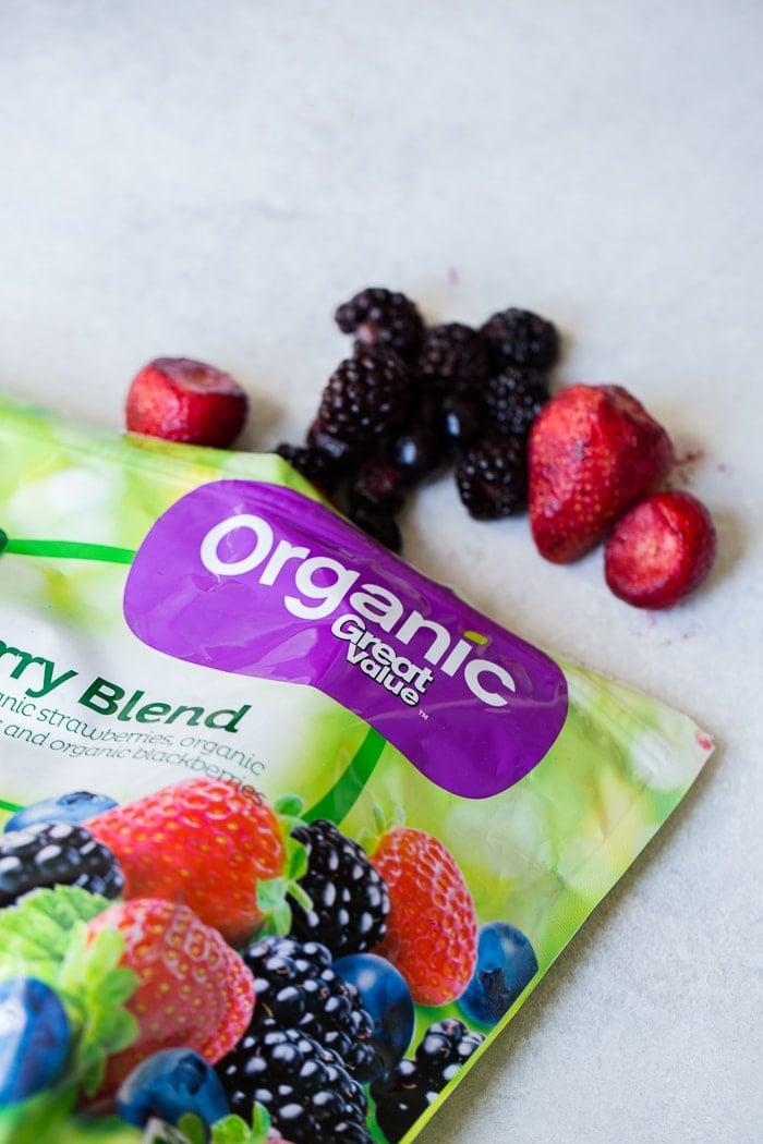 walmart organic frozen berries