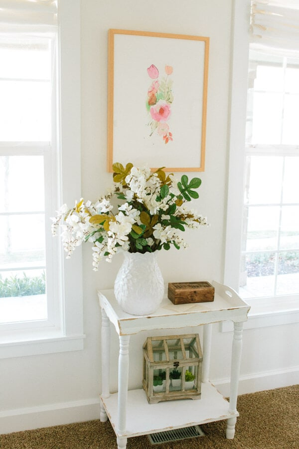 Making an office that's all white and still vibrant ohsweetbasil.com