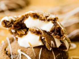A perfectly soft molasses cookie recipe is essential for the holidays, but these white chocolate molasses cookies take things to a whole new level.